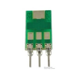 Capital Advanced - 33223 - IC Adapter, 3-SC-73 / SOT-223 to 3-SIP, 2.28mm Pitch Spacing, 2.54mm Row Pitch, 33000 Series