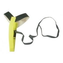 Duratool - MC000012 - ESD Grounder, Heel, Yellow, 1 Mohm, 18 , Elastic, Hook and Loop