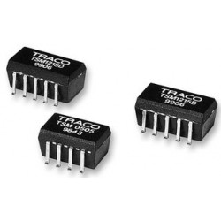 TRACO Electronic - TSM 1205S - Isolated Board Mount DC/DC Converter, 1 Output, 1 W, 5 V, 200 mA