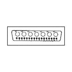 ITT - DDM24W7PK87 - Combination Layout D Sub Connector, 680M Series, DD-24W7, Plug, 17 Contacts, 7, Solder
