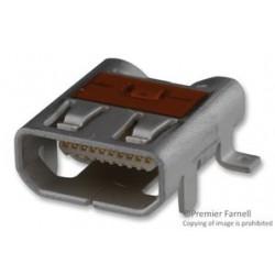 Molex - 46765-2001 - Conn Micro HDMI RCP 19 POS 0.4mm Solder RA SMD 19 Terminal 1 Port Embossed T/R (MOQ = 1000)