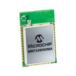 Microchip - MRF24WN0MA-I/RM100 - Wireless Module, IEEE 802.11b/g/n, 2.4 GHz, SPI to Host Controller, Integral PCB Trace Antenna