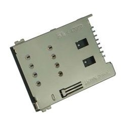 Amphenol - 101-00271-82 - Memory Socket, SIM Socket, 8 Contacts, Copper Alloy, Gold Plated Contacts