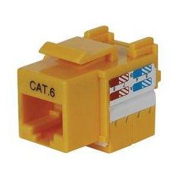 MCM Electronics - 831-2529 - Cat 6 Keystone Jack Yellow Punch Down