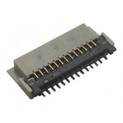 Hirose Electric - FH23-27S-0.3SHW(05) - FFC / FPC Board Connector, 0.3 mm, 27 Contacts, Receptacle, FH23 Series, Surface Mount, Bottom