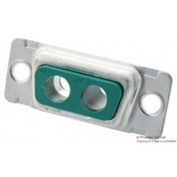 Amphenol - DE2V2SA00LF - Combination Layout D Sub Connector, 681M Series, DE-2V2, Receptacle, 0 Contacts, 2, Solder
