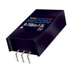 Recom Power - R-78B5.0-1.0L - Non Isolated POL DC/DC Converter, Switching, 1 Output, 5 W, 5 V, 1 A, Fixed, Through Hole