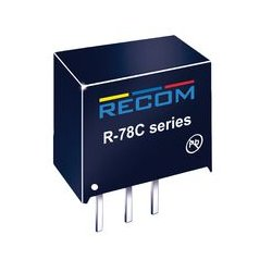 Recom Power - R-78C15-1.0 - Non Isolated POL DC/DC Converter, Innoline, 1 Output, 15 W, 15 V, 1 A, Fixed, Through Hole