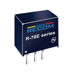 Recom Power - R-78E3.3-0.5 - Non Isolated POL DC/DC Converter, Innoline, 1 Output, 1.65 W, 3.3 V, 500 mA, Fixed, Through Hole