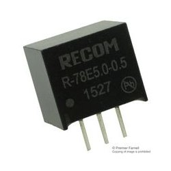 Recom Power - R-78E5.0-0.5 - Non Isolated POL DC/DC Converter, Innoline, 1 Output, 2.5 W, 5 V, 500 mA, Fixed, Through Hole