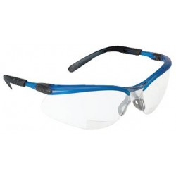 3M - 11474-00000-20 - Glasses, BX Reader, Magnified, Mirrored, Silver, Blue, 11474 Series