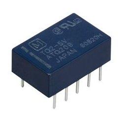 Panasonic - TQ2-5V - Signal Relay, DPDT, 5 VDC, 1 A, TQ Series, Through Hole, Non Latching