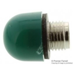 Dialight - 101-0972-003 - Indicator Lens, Green Cap, 15/32 Mounting Hole Panel Mount Indicators, 101 Series