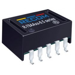 Recom Power - R-78AA5.0-0.5SMD-R - Non Isolated POL DC/DC Converter, 4 W, 3 V, 8 V, 500 mA, Adjustable, Surface Mount DIP