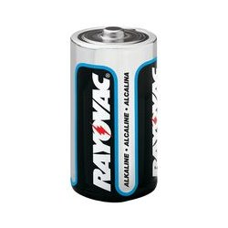 Rayovac - 813 BULK - Battery, 1.5 V, D, Alkaline, 15.453 Ah, Raised Positive and Flat Negative, 34.2 mm