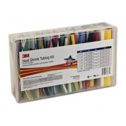 3M - FP-301 KIT ASSORTED - Heat Shrink Tubing Kit, 133 6 Long Pieces in Various Sizes, 7 Colors, Polyolefin