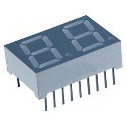 Lumex / ITW - LDD-HTA514RI - 7 Segment LED Display, InfoVue, Red, 10 mA, 2 V, 3.5 mcd, 2, 14.22 mm