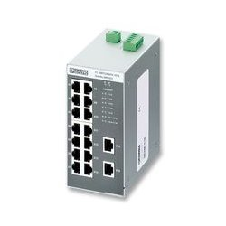 Phoenix Contact - 2891933 - Switch, 16 Ports, Industrial, Unmanaged Fast Ethernet, DIN Rail, RJ45 x 16, 10Mbps, 100Mbps