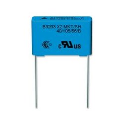 EPCOS (TDK) - B32932A3334K189 - Film Capacitor, B32932 Series, 0.33 F, 10%, PET (Polyester), 305 VAC