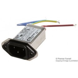 TE Connectivity - 15EJT8F - IEC Filter, 250 VAC, 15 A, EMI, RFI, Wire Leaded