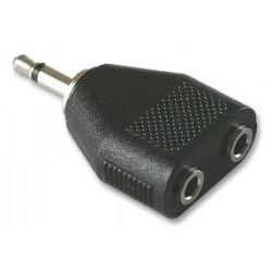 Pro Signal - CN00647 - Audio Adaptor, Mono Receptacle - 3.5mm x 2, Mono Plug - 3.5mm