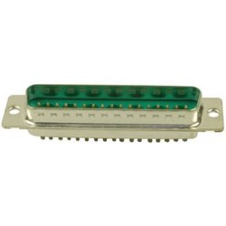Amphenol - DD24W7PA00LF - Combination Layout D Sub Connector, 681M Series, DD-24W7, Plug, 17 Contacts, 7, Solder