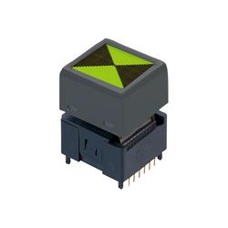 NKK Switches - IS15BSAFP4CF - Programmable Display Switch, Frameless, IS Series, SPDT, Through Hole, 100 mA, 12 V, LCD