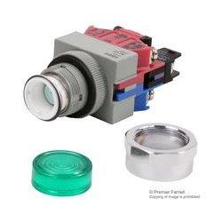 IDEC - ALW29911D-G-120 - Industrial Pushbutton Switch, SPDT-1NO, SPDT-NC, (On), Screw, 10 A, 600 V, 120 V