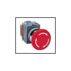 IDEC - AVW411-R - Emergency Stop Switch, SPST-NO, SPST-NC, Pushlock Turn Reset, Screw, 10 A, 600 V, 220 V
