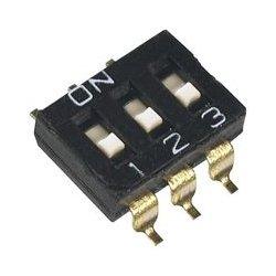 APEM - DMR04TTR - DIP / SIP Switch, Flush Slide, 4 Circuits, SPST, SMD, DIP Sealed, 24 VDC