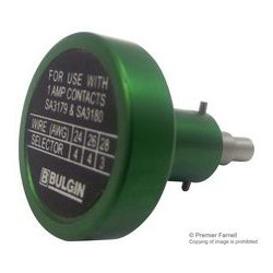 Bulgin - 14025/2224 - Crimp Tool Locator, Bulgin 14025 Crimp Tool, 22-24AWG Contacts, 12 Pole Crimp Contacts