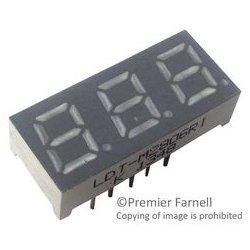 Lumex / ITW - LDT-M2806RI - 7 Segment LED Display, InfoVue, Red, 10 mA, 1.7 V, 6 mcd, 3, 7.1 mm