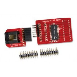 Microchip - AC244054 - Processor Extension Pack, Debugs PIC16LF1459 Family MCUs, Frees up I/O Pins Reserved for Debugger