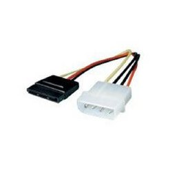 MCM Electronics - 11W3-S6110-6IN - 6 in Serial ATA Power Adapter 5 Pin Molex to 15 Pin SATA
