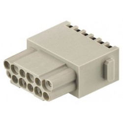 Harting - 09140122732 - Heavy Duty Connector Insert, 12+PE, Han-Quick Lock, Han-Modular DD Series, Receptacle, 13 Contacts