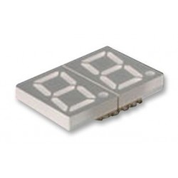 Lumex / ITW - LDD-SMHTA302RISUGT - 7 Segment LED Display, InfoVue, Green, 20 mA, 2.25 V, 2.5 mcd, 2, 14.22 mm
