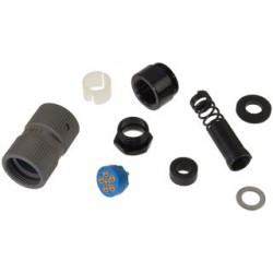 Cooper Interconnect - GC329 - DIN Audio / Video Connector, Conforms to MIL-C-55116, 6 Contacts, Plug, Cable Mount