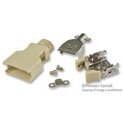 3M - 10314-3210-000 - Connector Backshell, Plastic Shielded Junction Backshell, MDR 14 Position Connector, 14, 180