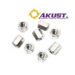 Akust Technology - SK00-0030-AKS - Standoff Nuts 4-40 X 6mm Brass Nickel Plating