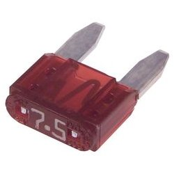 Littelfuse - 029707.5WXNV - Fuse, Automotive, Fast Acting, 7.5 A, 32 V, 10.9mm x 3.8mm x 8.8mm, MINI 297 Series