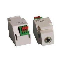 MCM Electronics - 50-14882 - White Keystone Mount 3.5mm Jack for IR Target