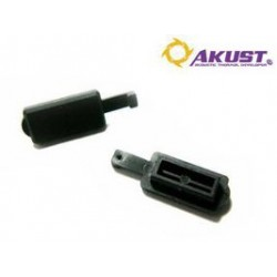 Akust Technology - AV01-0063-AKS - Usb Flat Dust Cover Black 5pk