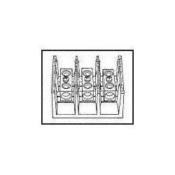 Marathon Special Products / Regal Beloit - 1412300 - Panel Mount Barrier Terminal Block, 115 A, 600 V, 2 Pole, 1, Screw, 2 AWG