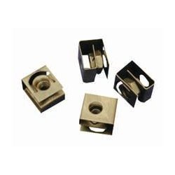Hammond Manufacturing - 1421N25 - Hardware, Clip Nut, Pack 25, Clip Nut, 10-32, Round Punched Hole Rails