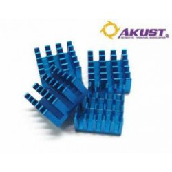 Akust Technology - RS00-0403-AKS - Aluminum Heat Sink Blue 4pk
