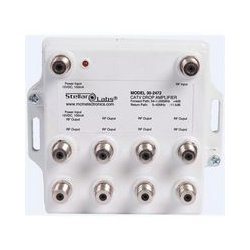 Stellar Labs - 30-2472 - CATV / Antenna Drop Amplifier 1x8 Splitter with Passive Return
