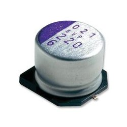 Panasonic - 16SVP22M - Capacitor, 22 F, 16 V, OS-CON SVP Series, Radial Can - SMD, 0.09 ohm, 2000 hours @ 105C
