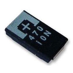 Panasonic - 2R5TPE330M7 - Tantalum Polymer Capacitor, 330 F, 2.5 V, POSCAP TPE Series, 20%, D, 0.007 ohm