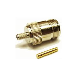 Wincomm - CON-CX100-NF - N-Female connector for LMR(R)-100/RG174 1/8 coaxial cable, SOI