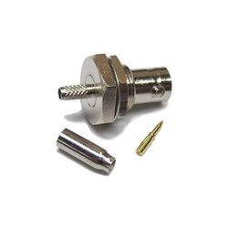 Wincomm - CON-CX100-RBNCF - Reverse polarity BNC-Female (male pin) connector for LMR(R)-100/RG174 1/8 coaxial cable, SOI